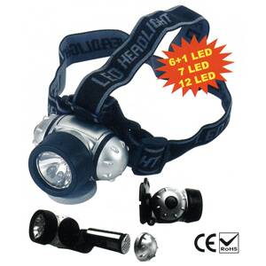Celovka HeadLight HL2212, 12xLED, 3xAAA